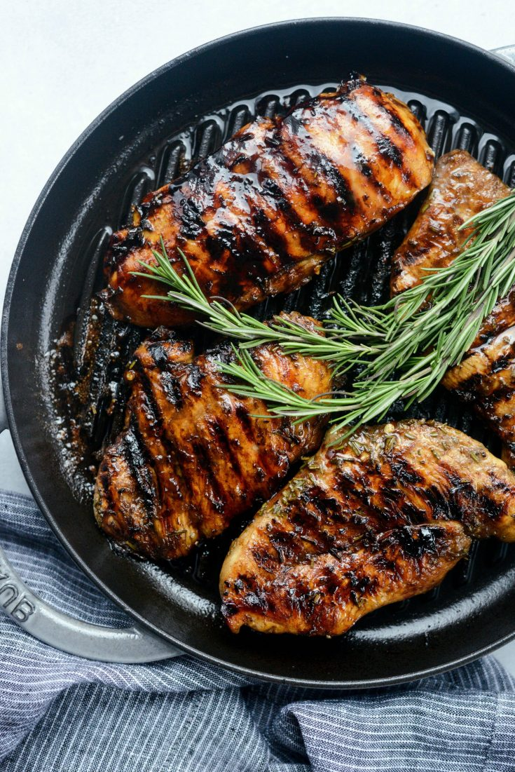 Grilled Balsamic Rosemary Chicken