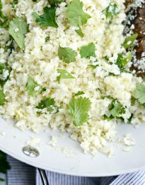 Cilantro Lime Cauliflower Rice l SimplyScratch.com
