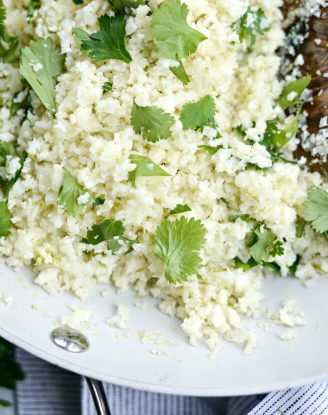 Cilantro Lime Cauliflower Rice l SimplyScratch.com