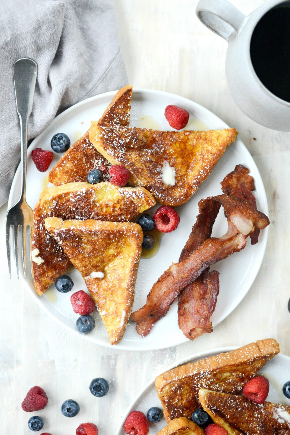 Cinnamon Sugar Crusted French Toast l SimplyScratch.com