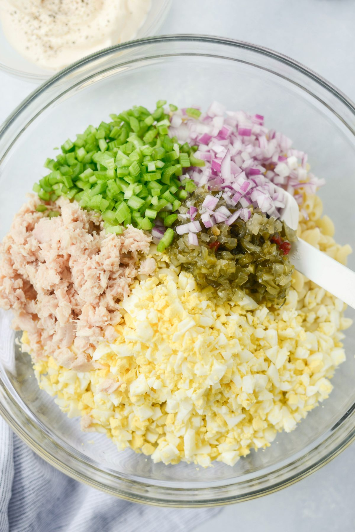 Simply scratch classic tuna macaroni salad simply scratch for Macaroni salad with tuna fish