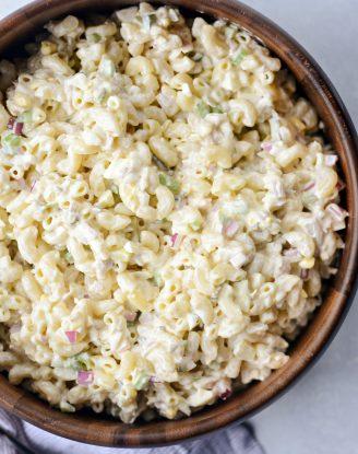 Classic Tuna Macaroni Salad l SimplyScratch.com