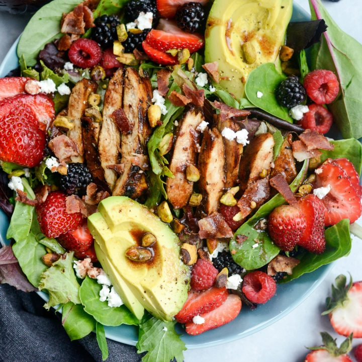 Berry Spring Salad with Raspberry Balsamic Vinaigrette