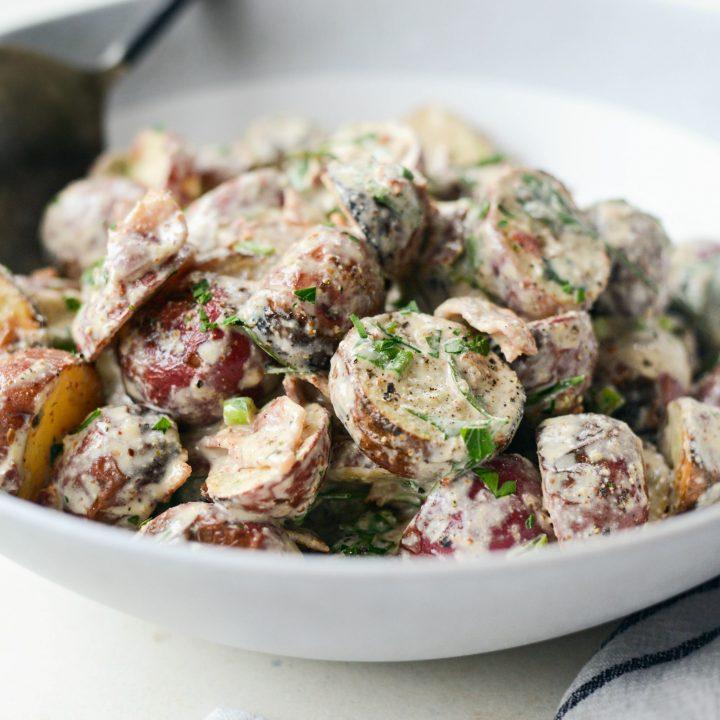 Grilled Potato Salad with Bacon with Bacon Dijon Vinaigrette