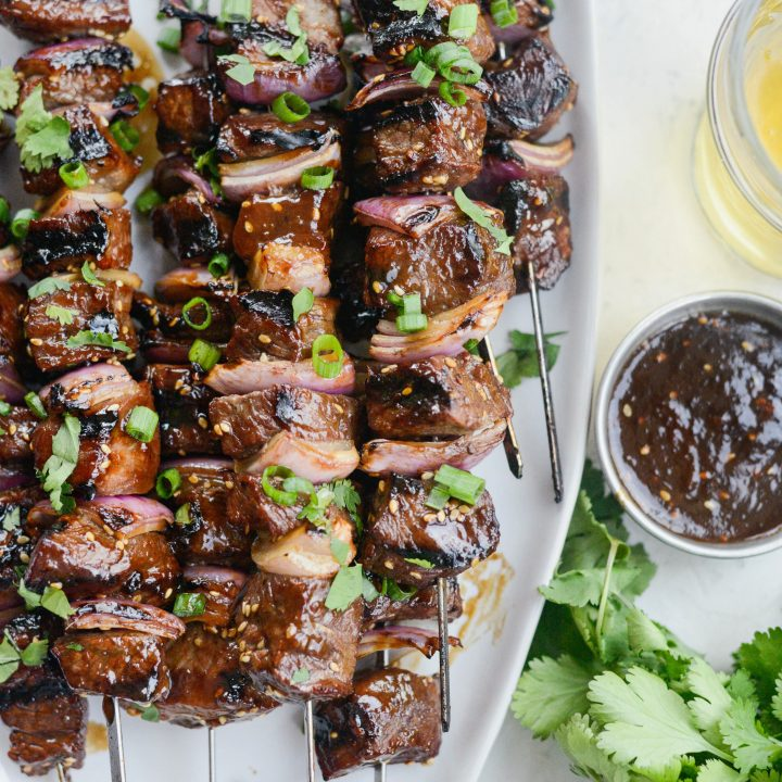 Grilled Sticky Sesame Steak Skewers
