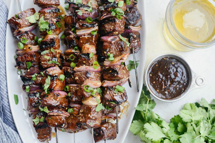 Grilled Sticky Sesame Steak Skewers