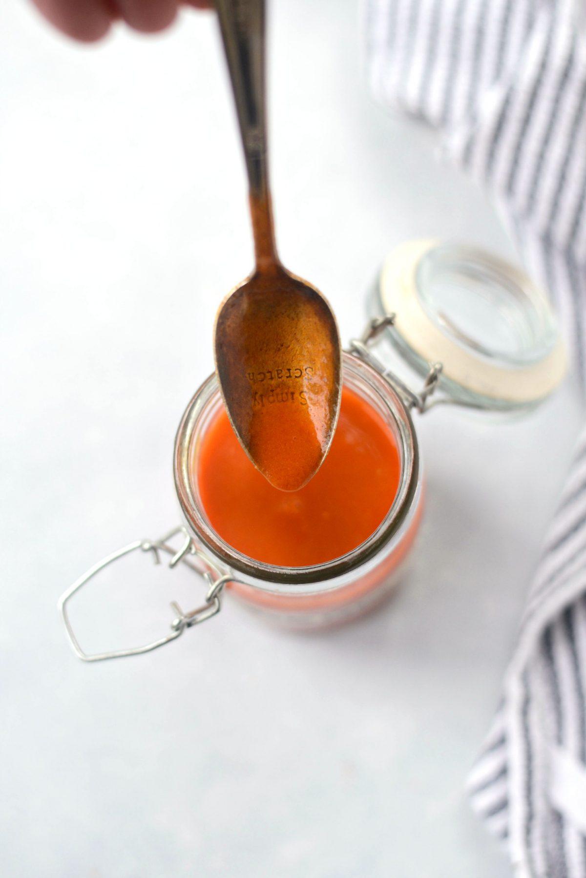 Homemade Buffalo Wing Sauce l SimplyScratch.com