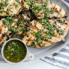 Cilantro Chimichurri Grilled Chicken l SimplyScratch.com