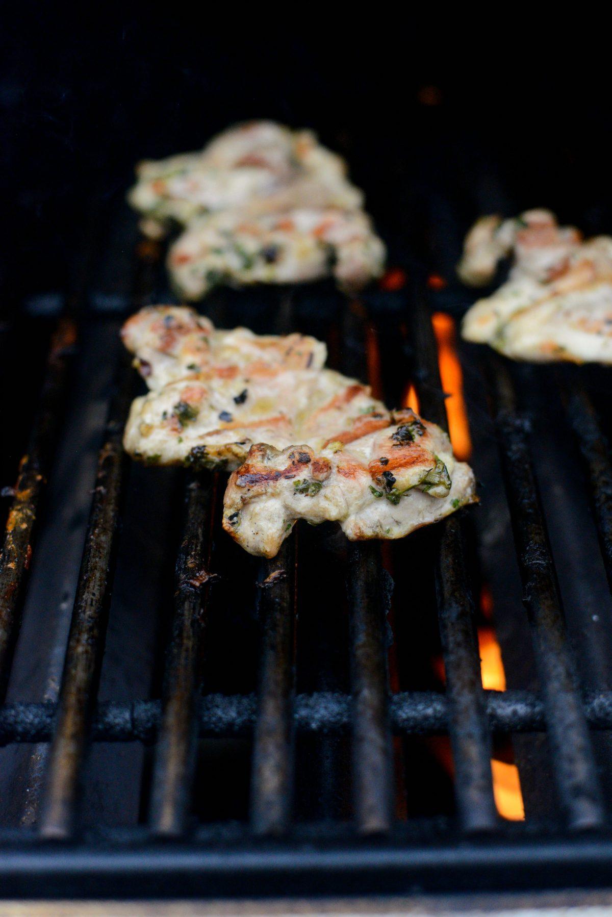Cilantro Chimichurri Grilled Chicken l SimplyScratch.com