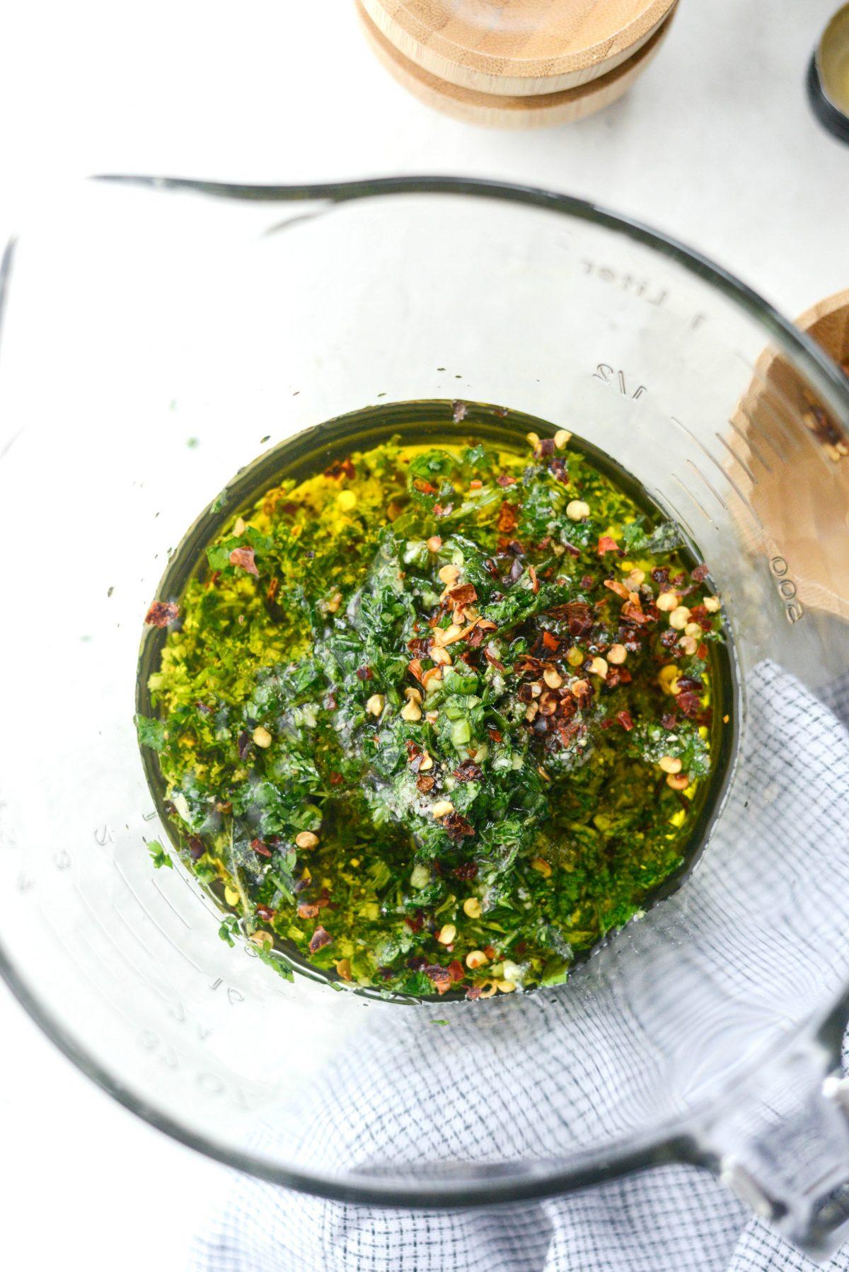Cilantro Chimichurri Sauce l SimplyScratch.com