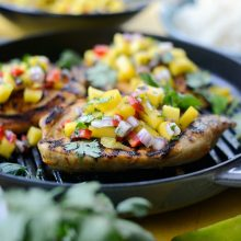 Grilled Cuban Mojo Chicken with Mango Salsa l SimplyScratch.com