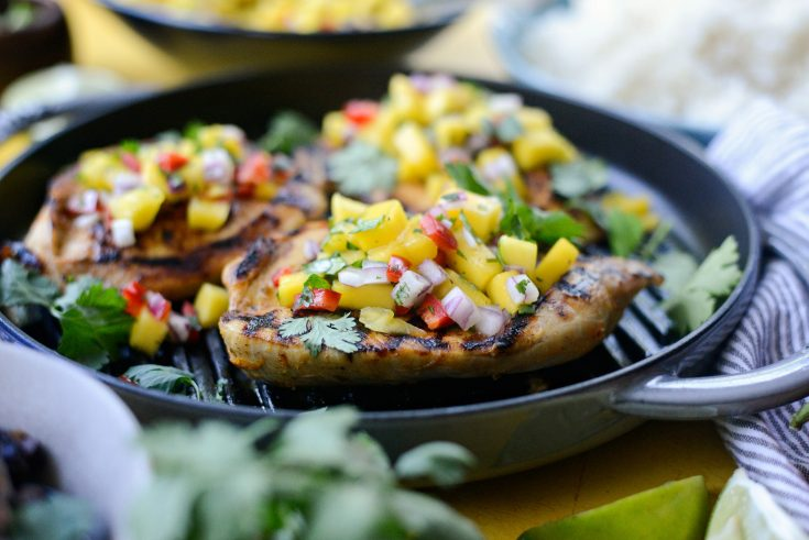 Grilled Cuban Mojo Chicken with Mango Salsa