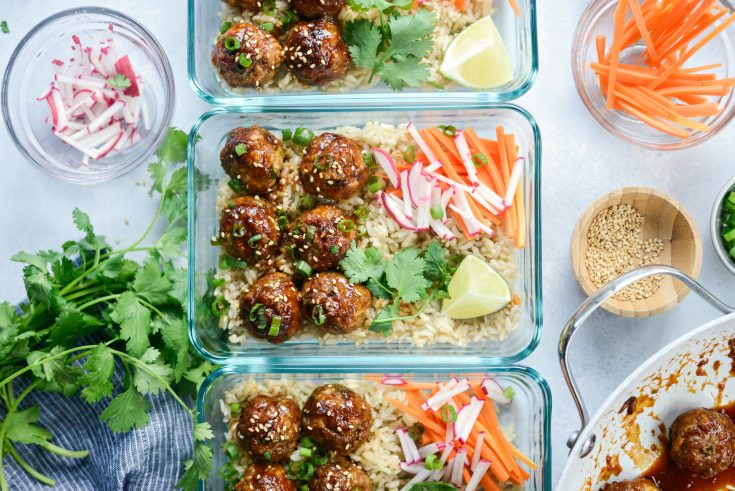 Maple Sriracha Glazed Meatballs (Meal Prep!)
