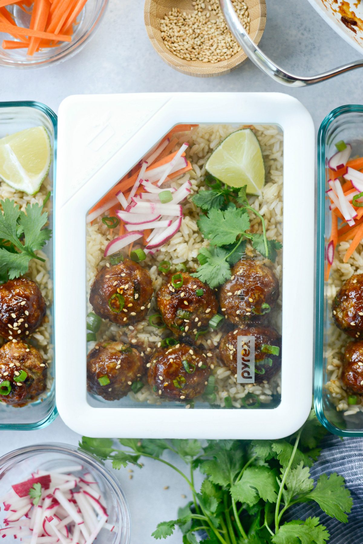 Maple Sriracha Glazed Meatballs l SimplyScratch.com