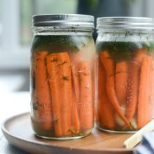 Naturally Fermented Dilly Carrots l SimplyScratch.com