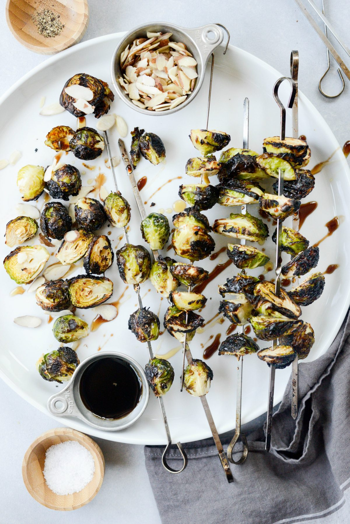 Grilled Garlic Brussels Sprouts l SimplyScratch.com