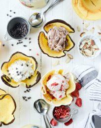 Homemade Ice Cream Waffle Bowls l SimplyScratch.com
