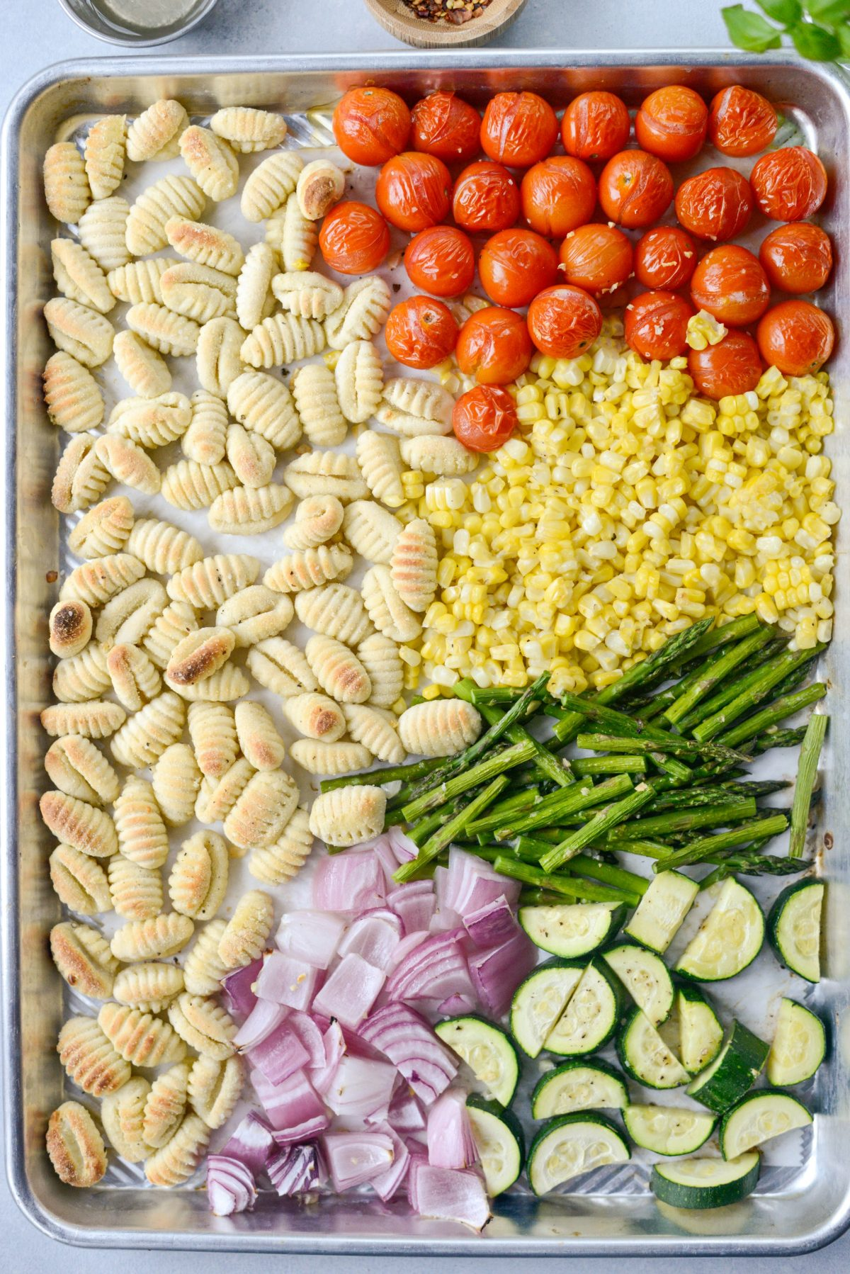 Sheet Pan Gnocchi with Summer Vegetables l SimplyScratch.com