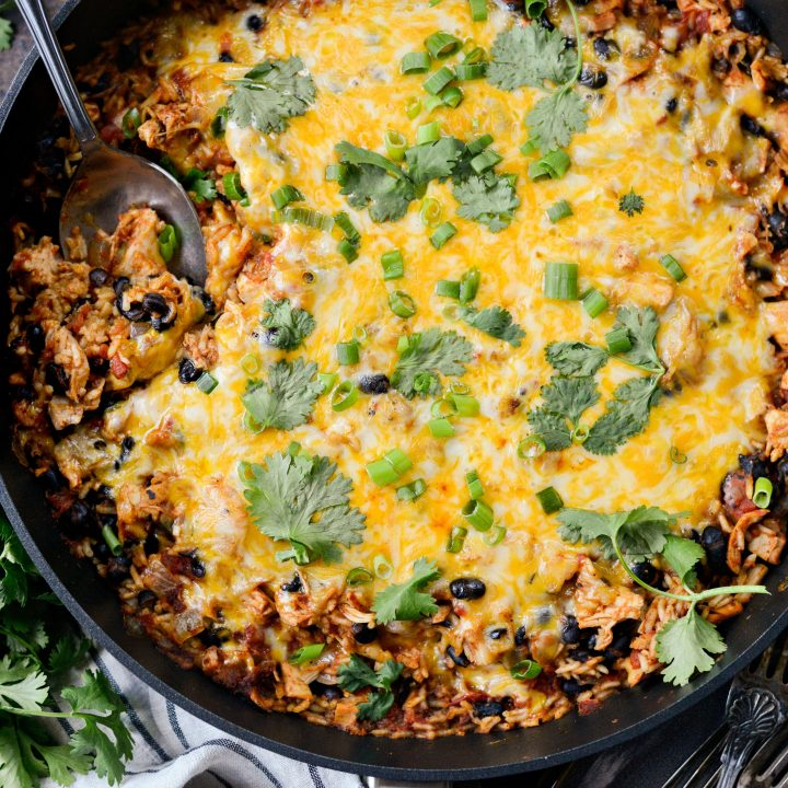 Enchilada Chicken and Rice Skillet