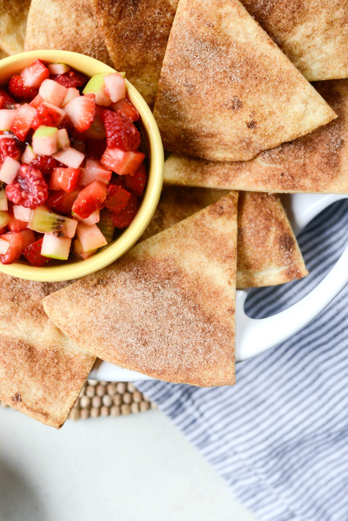 Fruit Salsa with Baked Cinnamon Sugar Chips l SimplyScratch.com (18)