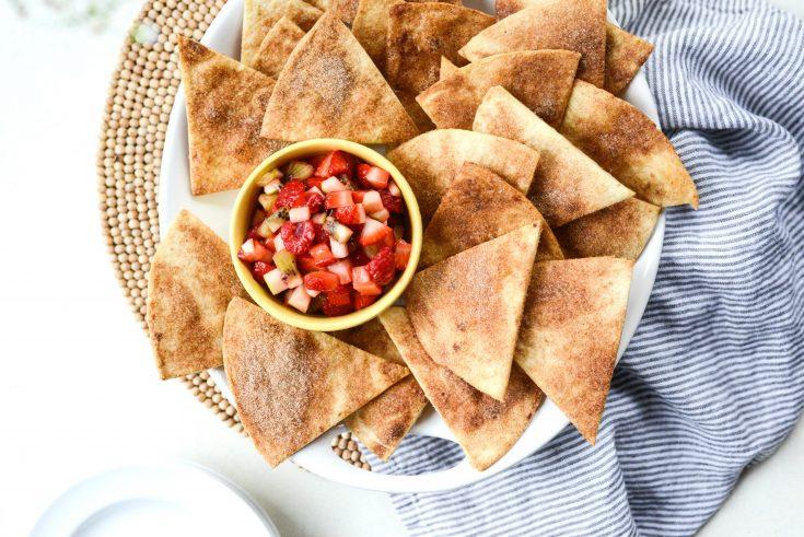 Fruit Salsa with Cinnamon Sugar Chips