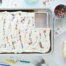 Homemade Funfetti Cake l SimplyScratch.com