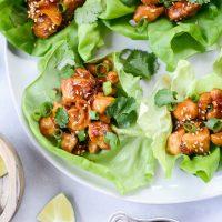Thai Cashew Chicken Lettuce Wraps