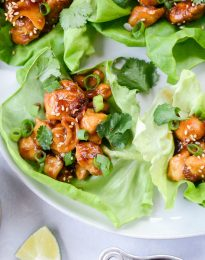Thai Cashew Chicken Lettuce Wraps l SimplyScratch.com