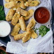 Air Fryer Mozzarella Cheese Sticks l SimplyScratch.com