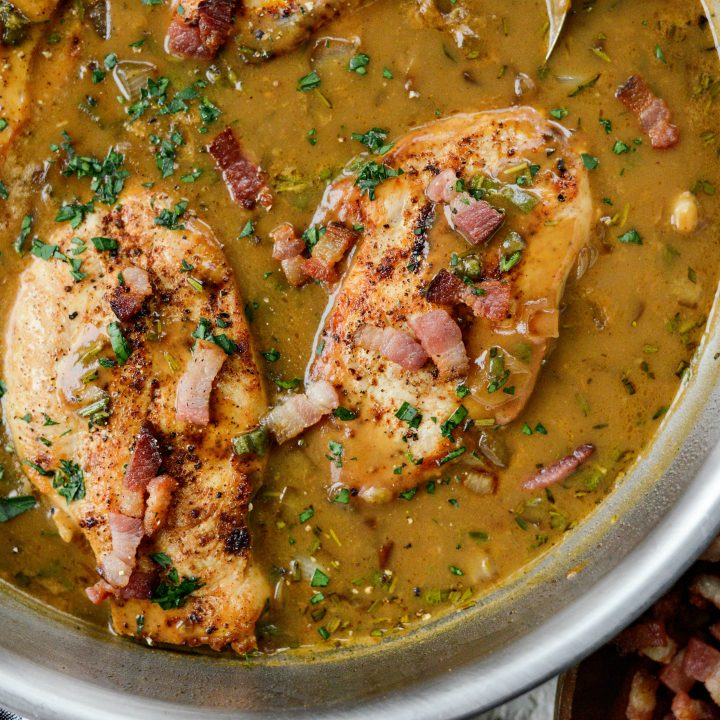 Herb Apple Cider Bacon Chicken