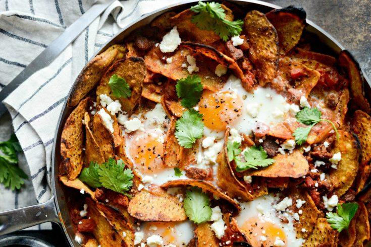Chorizo Sweet Potato Chilaquiles