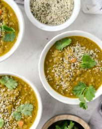 Golden Lentil Soup l SimplyScratch.com