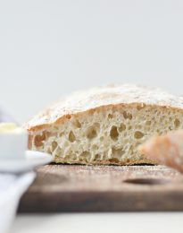 Homemade No-Knead Ciabatta Bread l SimplyScratch.com