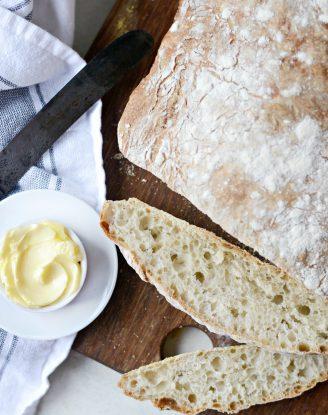 Homemade No-Knead Ciabatta Bread l SimplyScratch.com