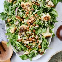Roasted Cauliflower Shawarma Chickpea Salad