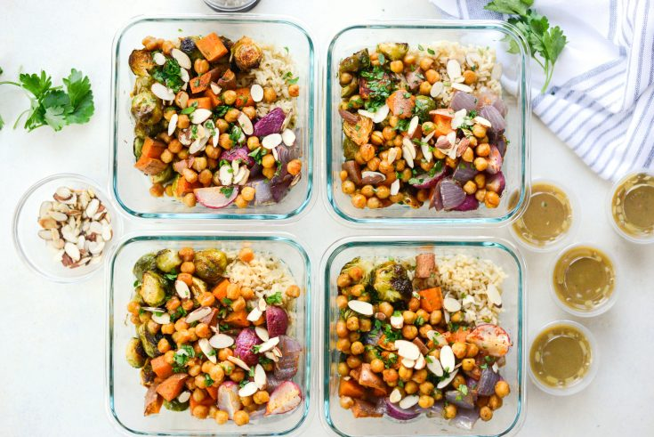 Roasted Fall Veggie Rice Bowls (Meal Prep!)