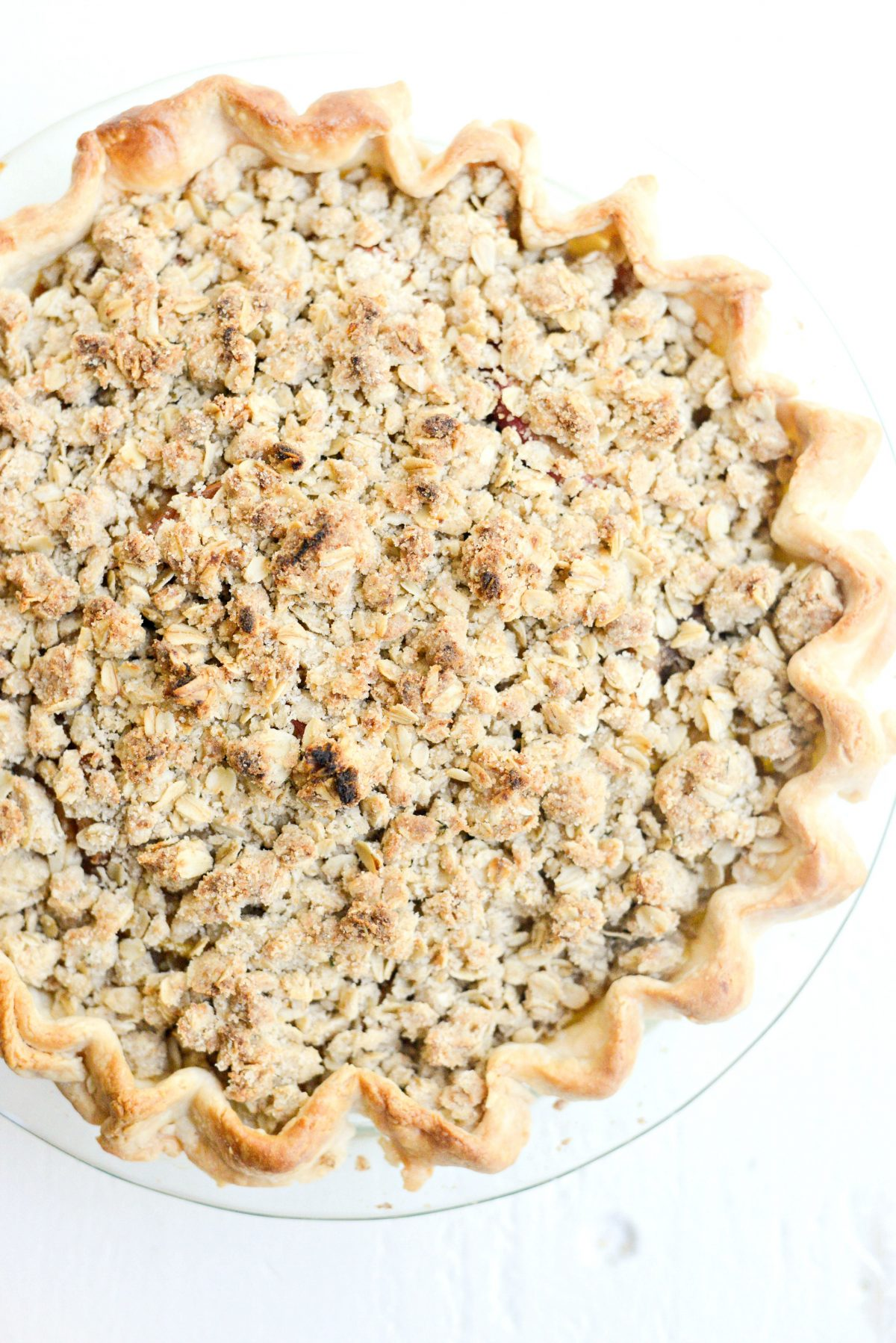 Rustic Brown Sugar Apple Pie with Oatmeal Thyme Crumble l SimplyScratch.com