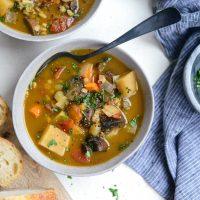 Slow Cooker Mushroom Barley Stew (Freezer Meal Kit)
