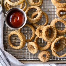 Air Fryer Beer Battered Onion Rings l SimplyScratch.com