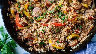Andouille Cajun Rice Skillet l SimplyScratch.com