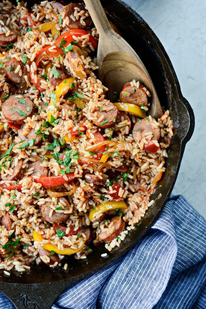 Andouille Cajun Rice Skillet - Easy Weeknight Meals