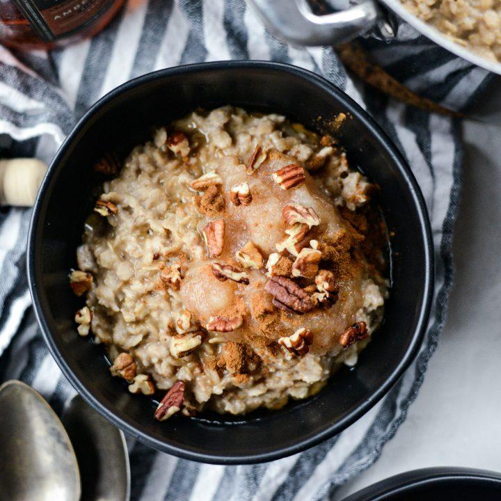 Apple Chai Oatmeal l SimplyScratch.com