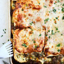 Easy Sheet Pan Lasagna