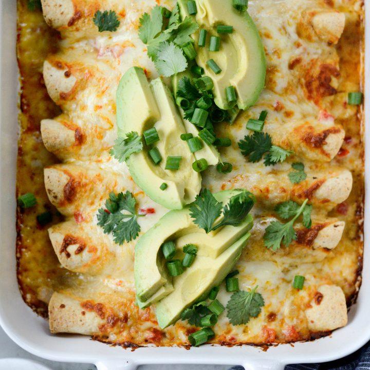 Lighter Chicken Enchiladas