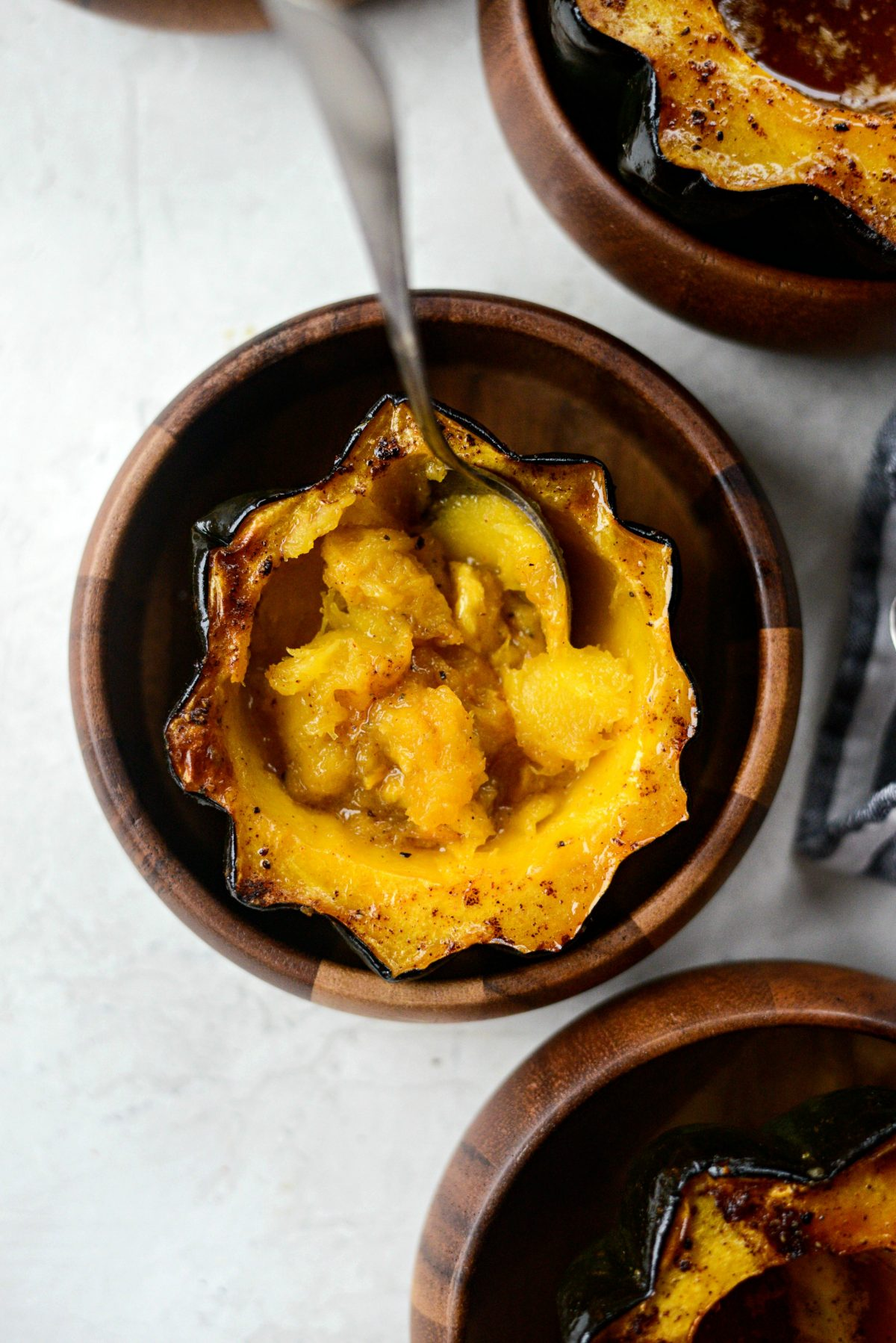 Maple Butter Roasted Acorn Squash l SimplyScratch.com