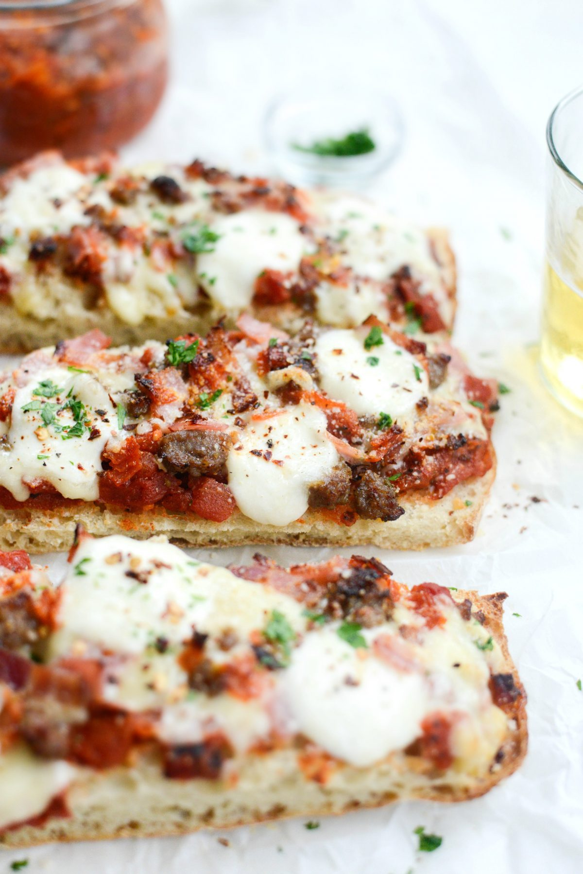 Meat Lovers Ciabatta Pizzas with Mozzarella Bombs l SimplyScratch.com
