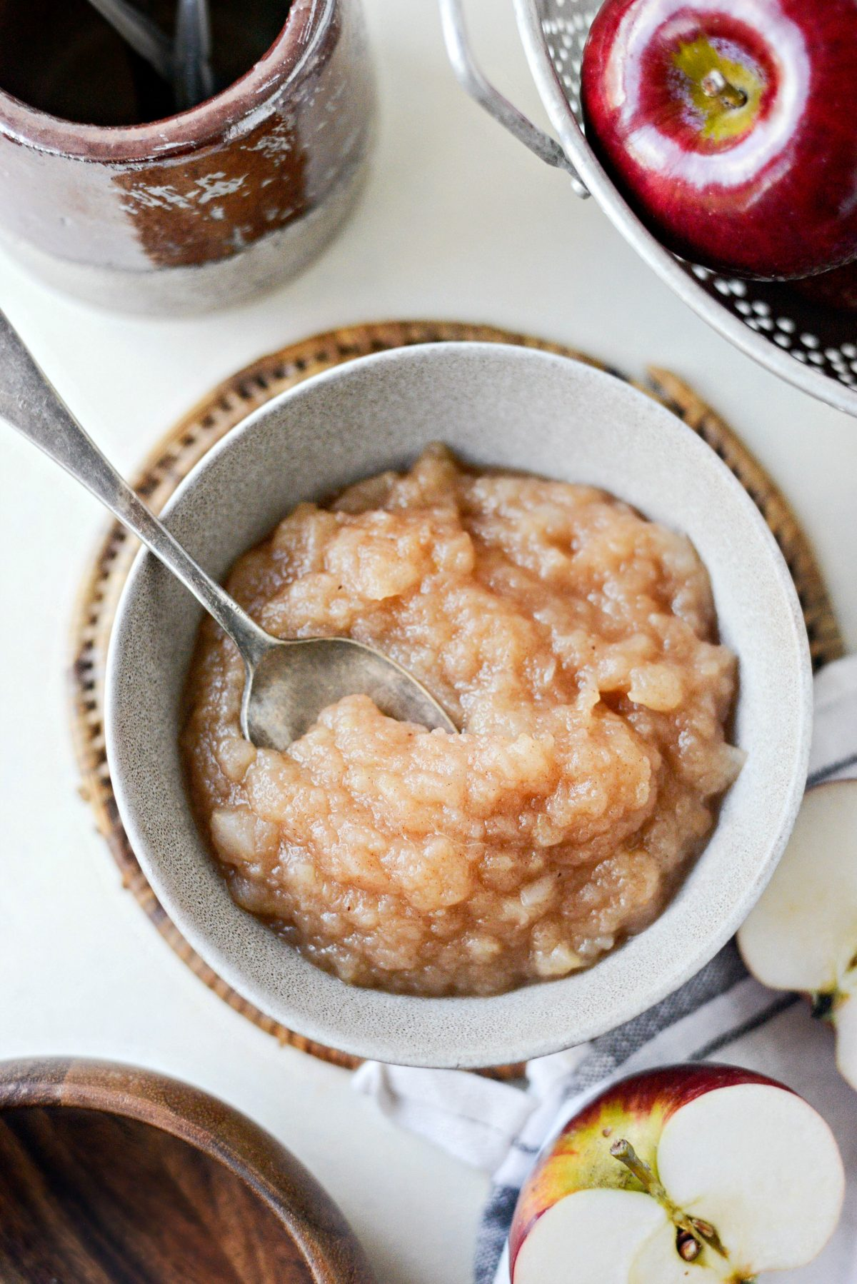 Naturally Sweetened Skillet Applesauce l SimplyScratch.com