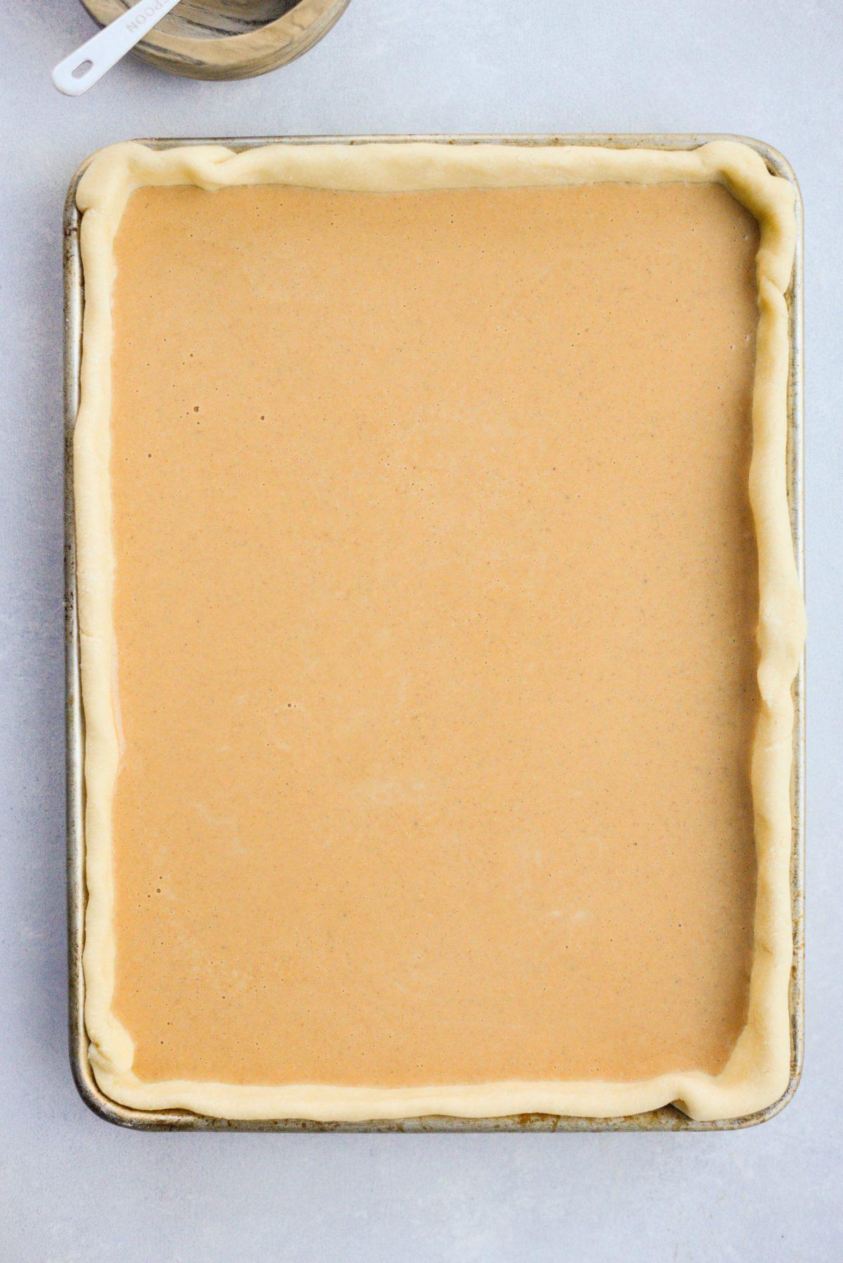 Pumpkin Slab Pie l SimplyScratch.com