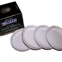 Delallo - 4 Piece Ceramic Saucer Set for Bread Dipping by Detallo