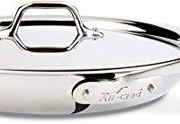 All-Clad Fry Pan with Lid, 12 Inch Pan, Stainless Steel, Tri-Ply Bonded, Silver